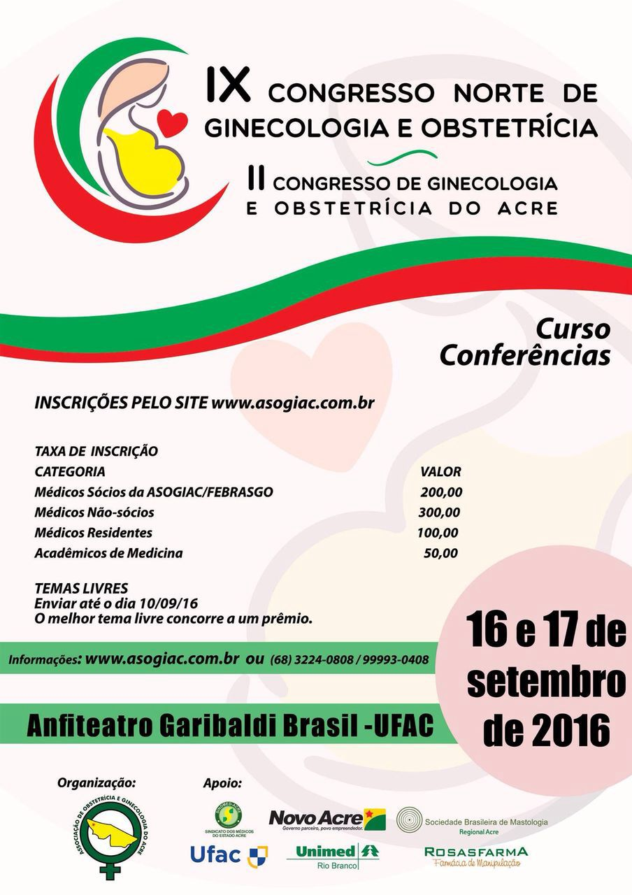 IX Congresso Norte de Ginecologia e Obstetrícia do Acre